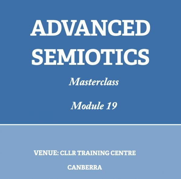 Advanced Semiotics Masterclass Module 19